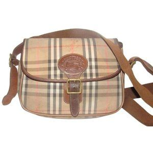 Burberry Saddle Style Nova Check Shoulder Bag